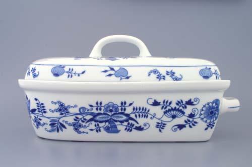 AKCIA -15% Cibulák forma na pečenie pekáč veľký s vekom 2,4 l cibulový porcelán, originálny cibulák Dubí 1. akosť