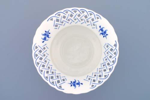 Cibulák kvetináč prelamovaný bez nôžky 19 cm cibulový porcelán, originálny cibulák Dubí 1. akosť