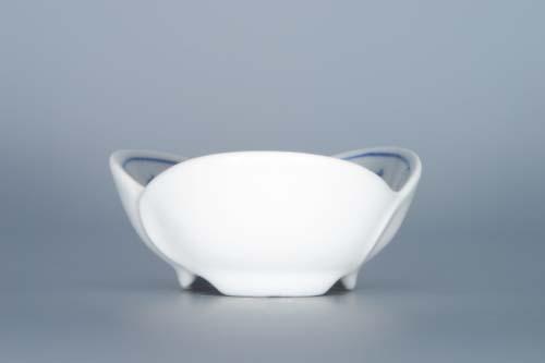 Cibulák miska na džem, trojlístok 7,3 cm cibulový porcelán, originálny cibulák Dubí 1. akosť