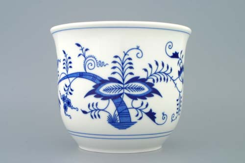 Cibulák kvetináč bez úch a bez nôžky 19 cm cibulový porcelán, originálny cibulák Dubí 1. akosť