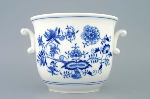 Cibulák kvetináč s ušami 19 cm cibulový porcelán originálny cibulák Dubí