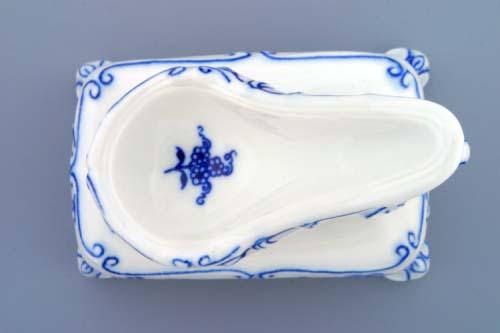 Cibulák stojan na fajku 11 x 6,5 x 13 cm cibulový porcelán, originálny cibulák Dubí 1. akosť