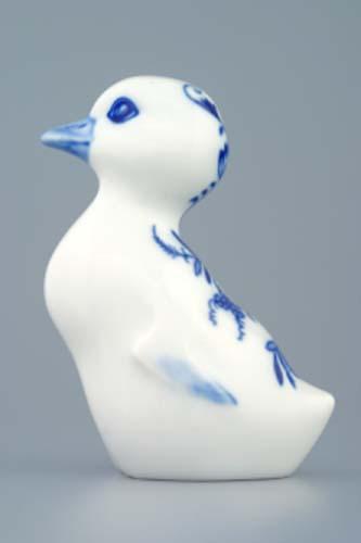 Cibulák húsatko 10 x 6 cm cibulový porcelán, originálny cibulák Dubí, 1. akosť