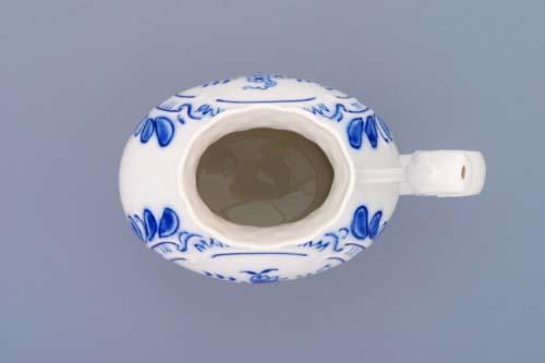 Cibulák pohárik kúpeľný reliéfny 12 cm cibulový porcelán, originálny cibulák Dubí 1. akosť