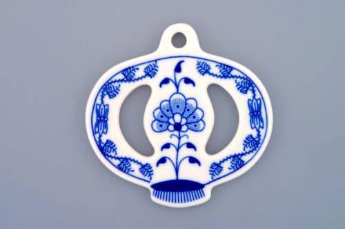 Cibulák vianočná ozdoba jabĺčko 8,5 cm cibuľový porcelán,originálny cibuľák Dubí,1. akosť