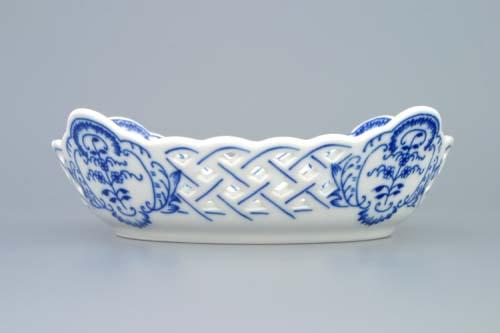 Cibulák misa štvorhranná prelamovaná 17 cm cibulový porcelán, originálny cibulák Dubí 1. akosť