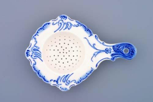 Cibulák sitko na čaj 16 cm cibulový porcelán, originálny cibulák Dubí 1. akosť