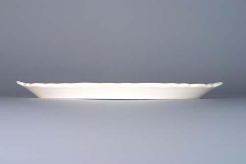 Cibulák podnos pre tri karafky 20,5 cm cibulový porcelán, originálny cibulák Dubí 1. akosť