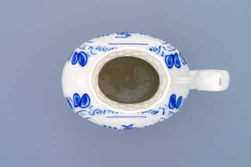 Cibulák pohárik kúpeľný prelamovaný 12 cm cibulový porcelán, originálny cibulák Dubí 1. akosť