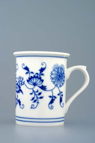 Cibulák kalíšok toaletný s uškom 0,25 l cibulový porcelán originálny porcelán Dubí 1. akosť
