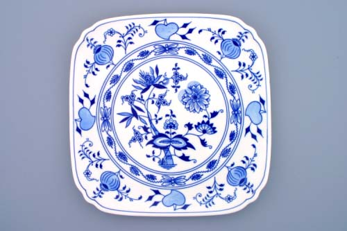 Cibulák tanier hranatý 29 cm cibulový porcelán, originálny cibulák Dubí