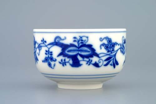 Cibulák šálka rovna bez uška 0,125 l cibulový porcelán, originálny cibulák Dubí 1. akosť