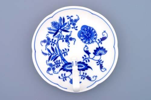 Cibulák miska s uchom 17 cm cibulový porcelán, originálny cibulák Dubí 1. akosť