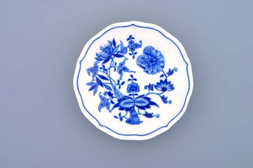 Cibulák podšálka zrkadlová ZA /1 13cm cibulový porcelán, originálny cibulák Dubí 1. akosť