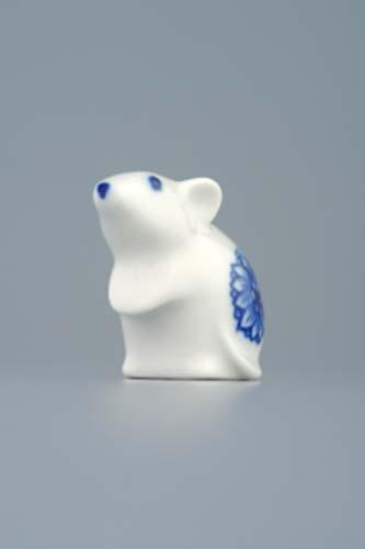 Cibulák miniatúra myš 5 cm cibulový porcelán, originálny cibulák Dubí 1. akosť