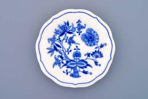 Cibulák podšálka zrkadlová, nízká ZC / 2 12,4 cm cibulový porcelán, originálny cibulák Dubí 1. akosť