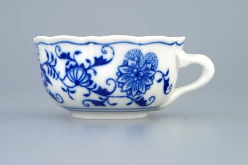 Cibulák šálka nízka C / 2 0,11 l cibulový porcelán, originálny cibulák Dubí 1. akosť