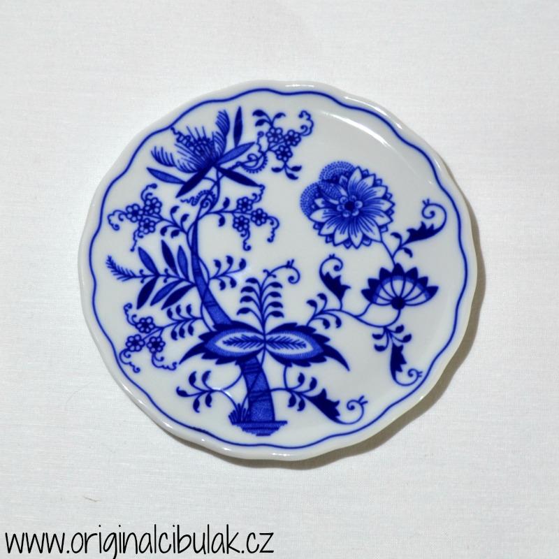 Cibulák podložka pod kanvicu 14,5 cm cibulový porcelán, originálny cibulák Dubí 1. akosť'