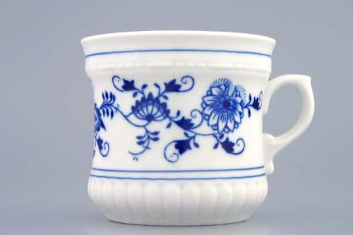 Cibulák hrnček Perlový veľký 0,37 l cibuľový porcelán originálny cibuľák Dubí 1. akosť