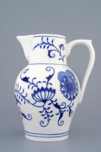 Cibulák džbán vysoký 0,90 l cibulový porcelán, originálny porcelán Dubí, 1. akosť