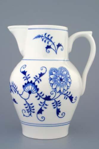 Cibulak džbán vysoký 1,50 l cibulový porcelán, originálny cibulák Dubí, 1. akosť
