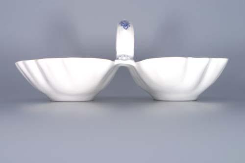 Cibulák kabaret dvojdielny 28 cm cibulový porcelán, originálny cibulák Dubí, 1. akosť