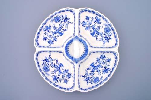 Cibulák kabaret štvordielny32 cm cibulový porcelán, originálny cibulák Dubí, 1. akosť