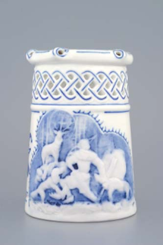 Cibulák korbel prelamovaný s reliéfom 0,40 l cibulový porcelán, originálny cibulák Dubí 1. akosť