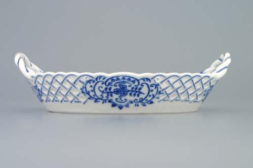 Cibulák košík prelamovaný cibulový porcelán 19 cm originálny cibulák Dubí
