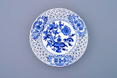 Cibulák tanier prelamovaný 18 cm cibulový porcelán, originálny cibulák Dubí 1. akosť