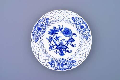 Cibulák tanier reliéfny 15 cm cibulový porcelán, originálny cibulák Dubí 1. akosť