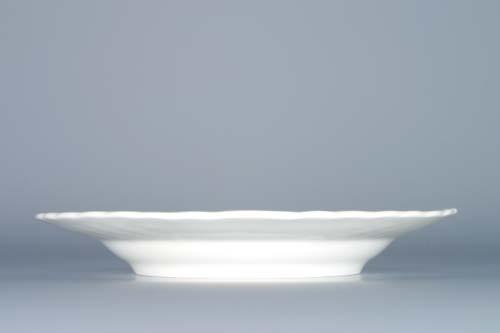Cibulák tanier reliéfny 18 cm cibulový porcelán, originálny cibulák Dubí 1. akosť
