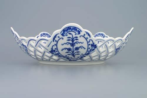 Cibulák misa päťhranná prelamovaná 28 cm cibulový porcelán, originálny cibulák Dubí 1. akosť