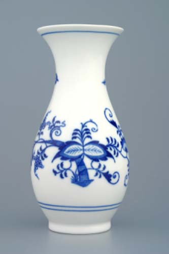 Cibulák váza 1210/1 16,5 cm cibulový porcelán, originálny porcelán Dubí, 1. akosť