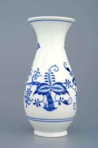 Cibulák váza 20 cm cibulový porcelán, originálny cibulák Dubí,1. akosť