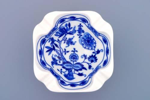 Cibulák popolník štvorhranný 12,5 cm cibulový porcelán originálny porcelán Dubí 1. akosť