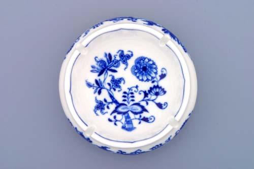 Cibulák popolník guľatý s výrezmi 13 cm cibulový porcelán, originálny porcelán Dubí, 1. akosť