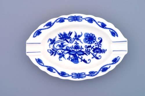 Cibulák popolník oválny 16 cm cibulový porcelán, originálny cibulák Dubí 1. akosť