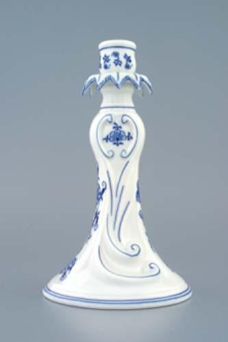 Cibulák svietnik 1983 22 cm cibulový porcelán, originálny cibulák Dubí 1. akosť