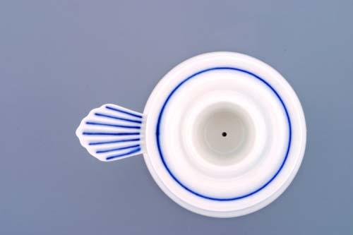 Cibulák svietnik 1991 s uškom 6,5 cm cibulový porcelán, originálny cibulák Dubí