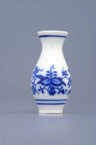Cibulák váza mini 1210 cibulový porcelán, originálny cibulák Dubí 1. akosť
