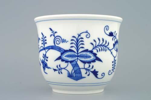 Cibulák kvetináč bez úch a bez nôžky 16 cm cibulový porcelán, originálny porcelán Dubí, 1. akosť