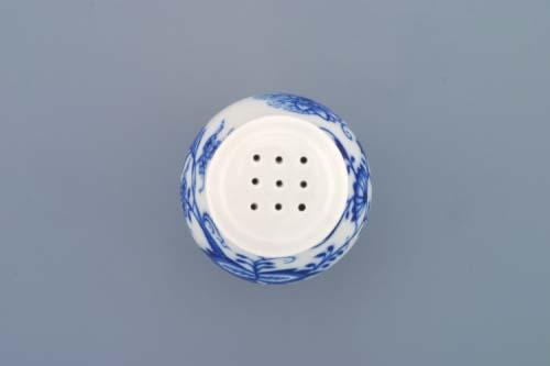 Cibulák soľnička sypacia bez nápisu 7 cm cibulový porcelán, originálny cibulák Dubí 1. akosť