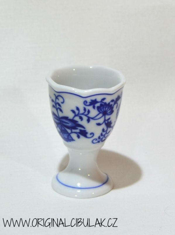 Cibulák kalíšok na vajcia bez podstavca 5 cm cibulový porcelán, originálny cibulák Dubí 1. akosť
