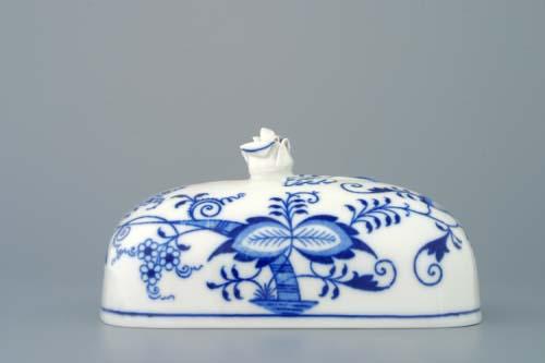Cibulák maselnička hranatá veľká / vršok 15 x 11 cm cibulový porcelán, originálny cibulák Dubí 1. akosť
