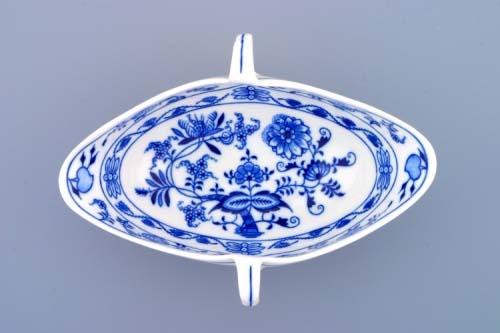 Cibulák omáčnik oválny, bez podstavca s dvoma uchami 0,55 l cibulový porcelán, originálny cibulák Dubí 1. akosť