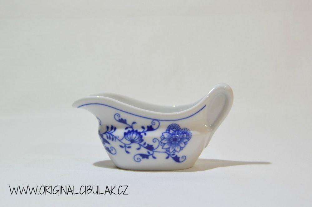 Cibulák omáčnik oválny, bez podstavca s uchom 0,10 l cibulový porcelán, originálny cibulák Dubí