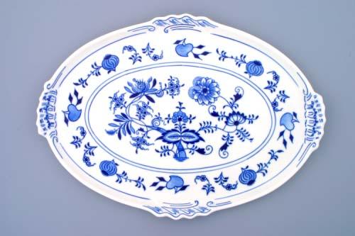 Cibulák podnos oválny 39 cm cibulový porcelán, originálny cibulák Dubí 1. akosť