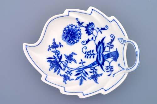 Cibulák misa list 19 cm cibulový porcelán, originálny cibulák Dubí 1. akosť