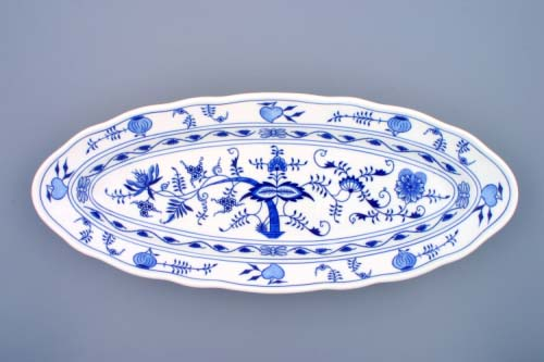 Cibulák misa oválna na ryby 57 cm cibulový porcelán, originálny cibulák Dubí